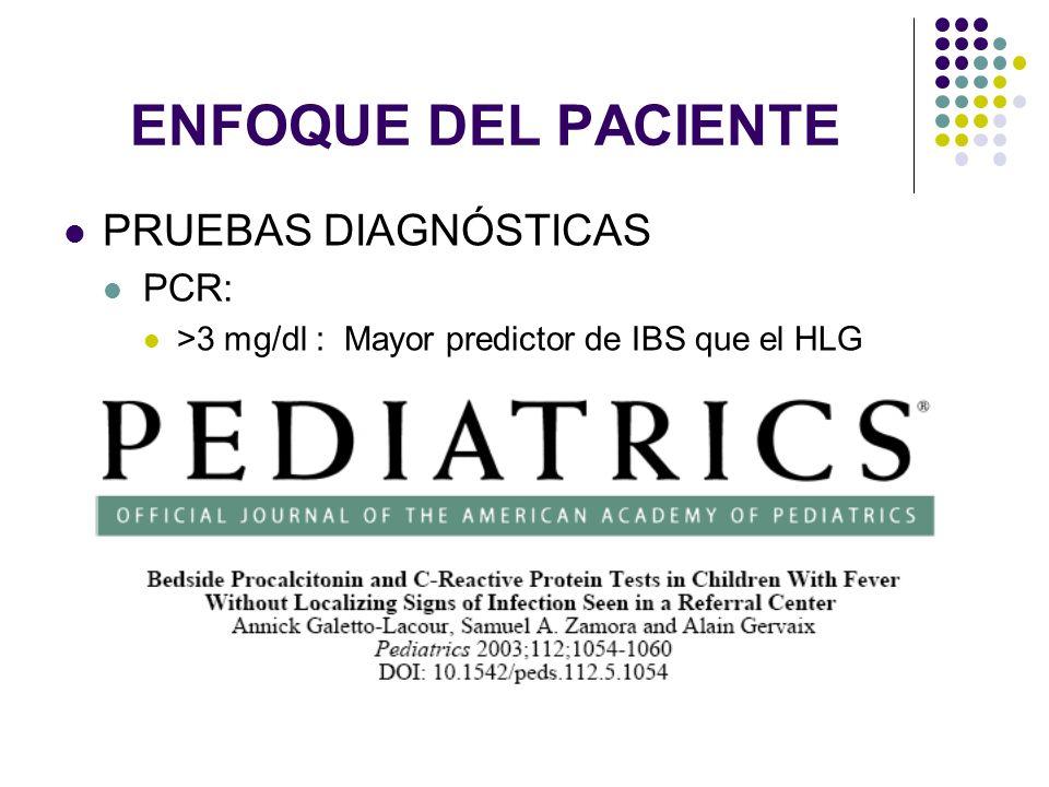 ENFOQUE DEL PACIENTE PRUEBAS DIAGNÓSTICAS PCR: