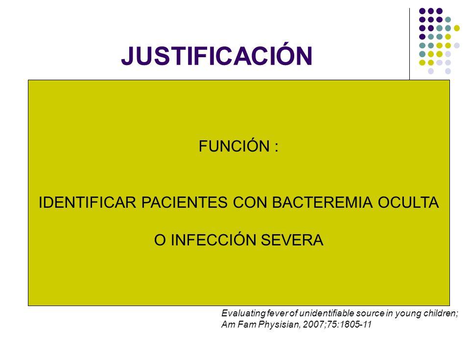 IDENTIFICAR PACIENTES CON BACTEREMIA OCULTA
