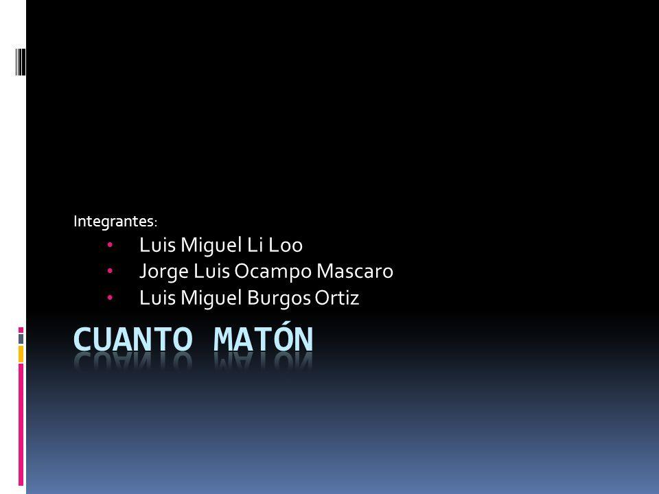 Cuanto Matón Luis Miguel Li Loo Jorge Luis Ocampo Mascaro
