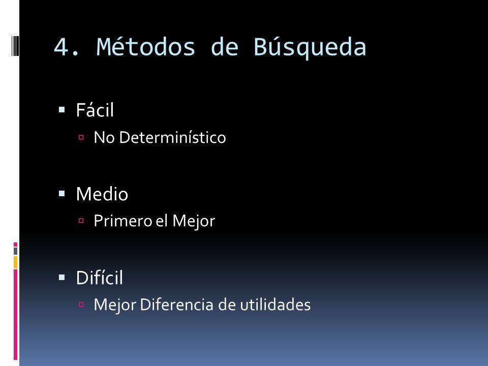4. Métodos de Búsqueda Fácil Medio Difícil No Determinístico