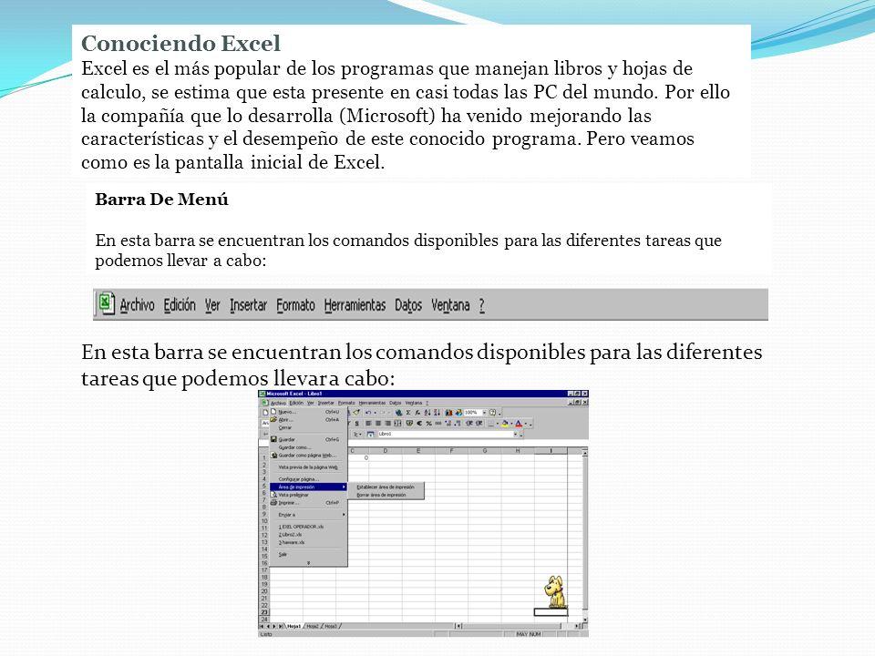 Conociendo Excel