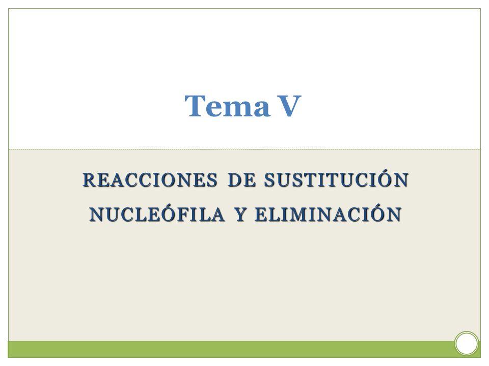 REACCIONES DE SUSTITUCIÓN NUCLEÓFILA Y ELIMINACIÓN
