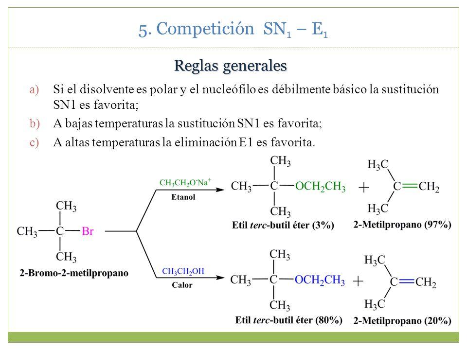 5. Competición SN1 – E1 Reglas generales
