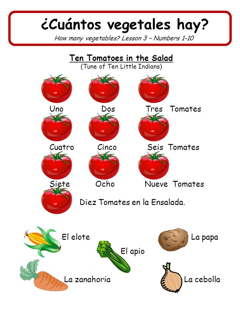 ¿Cuántos vegetales hay