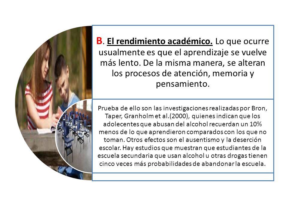 B. El rendimiento académico