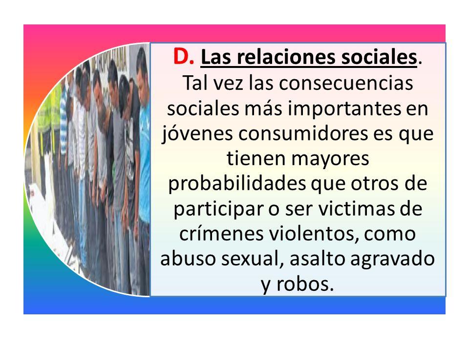 D. Las relaciones sociales
