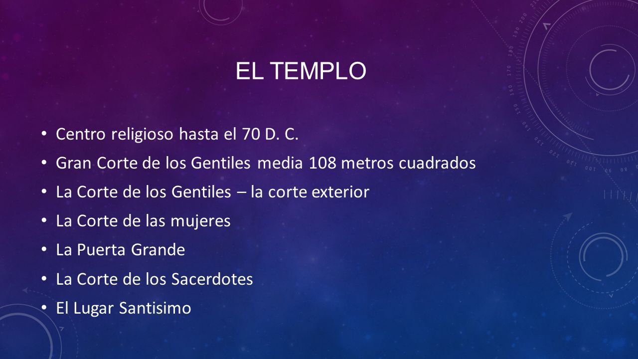 El templo Centro religioso hasta el 70 D. C.