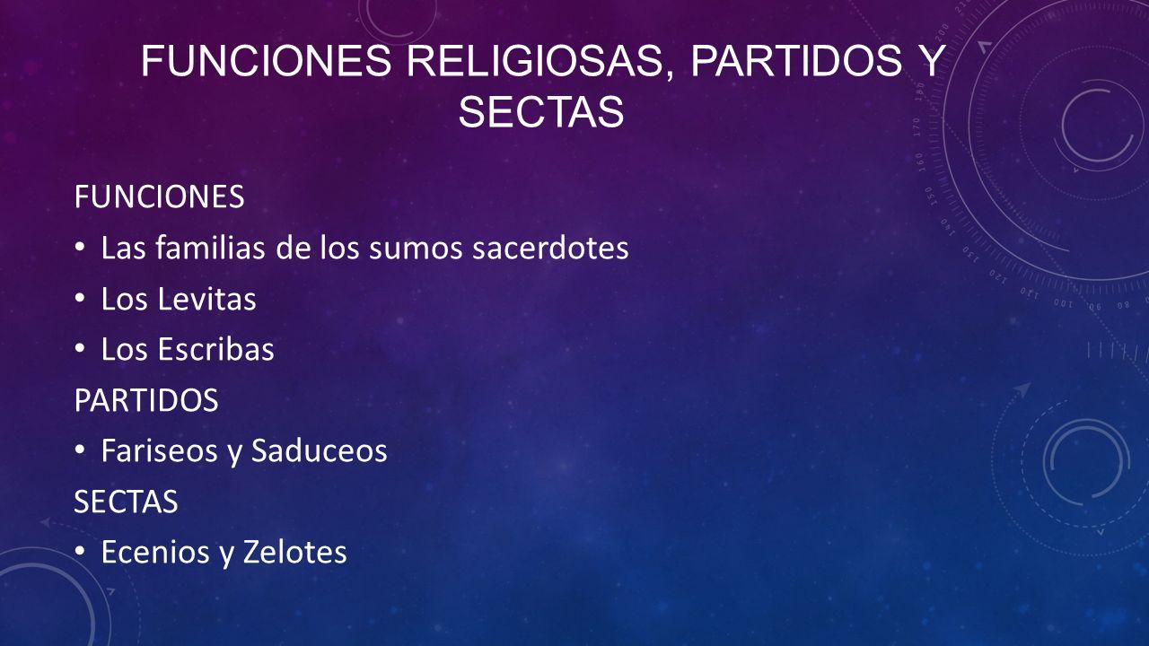 Funciones Religiosas, partidos y sectas