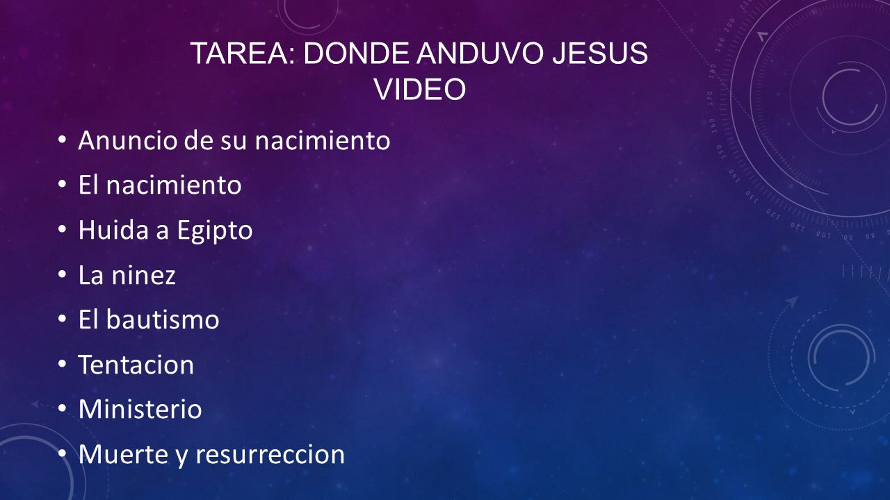 Tarea: Donde anduvo jesus Video