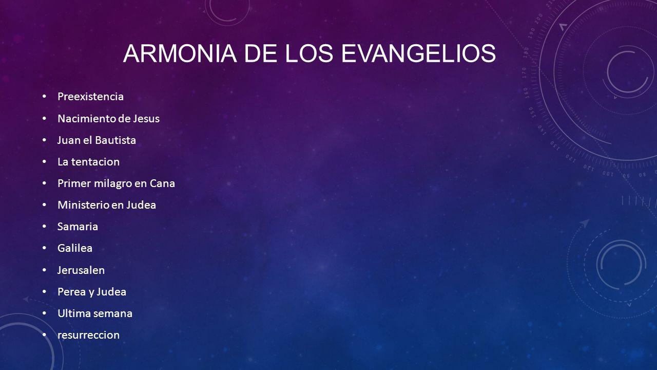 Armonia de los evangelios