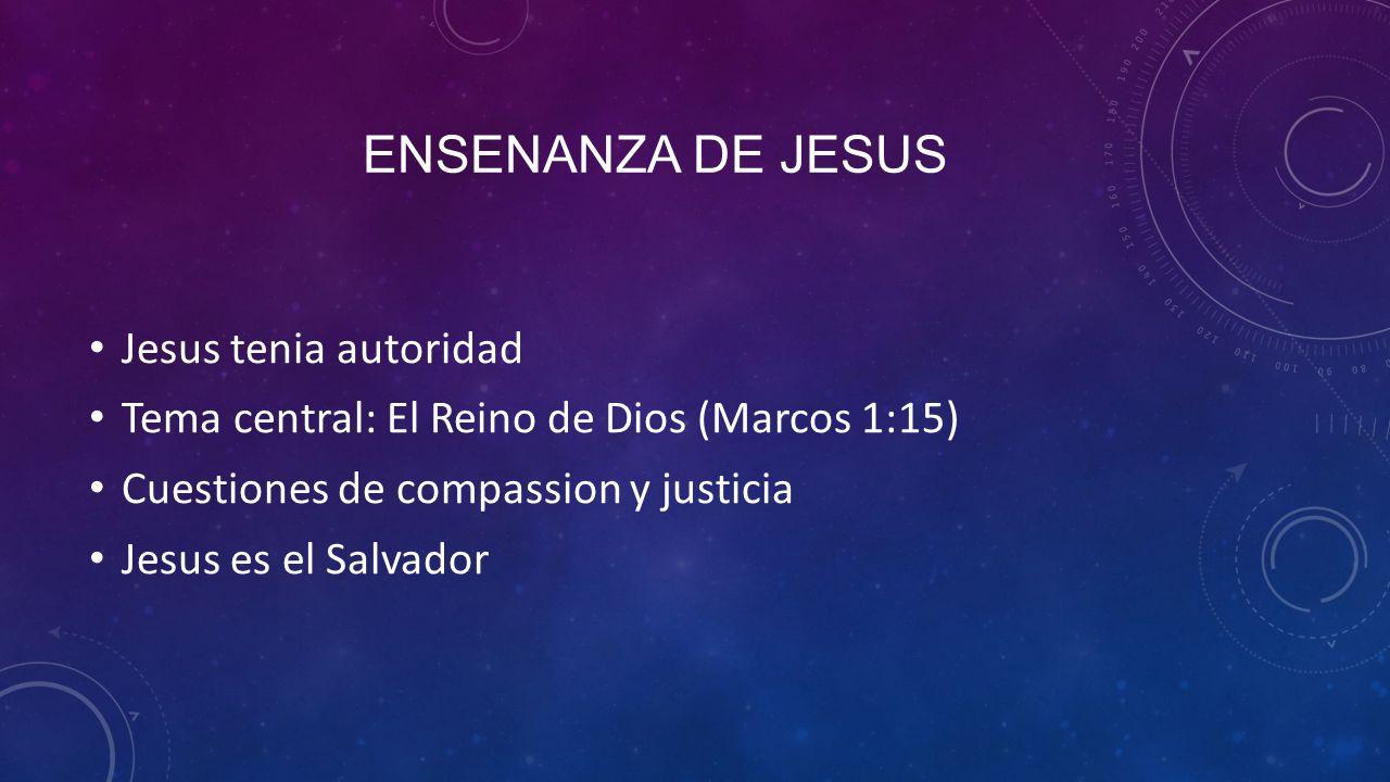 Ensenanza de jesus Jesus tenia autoridad