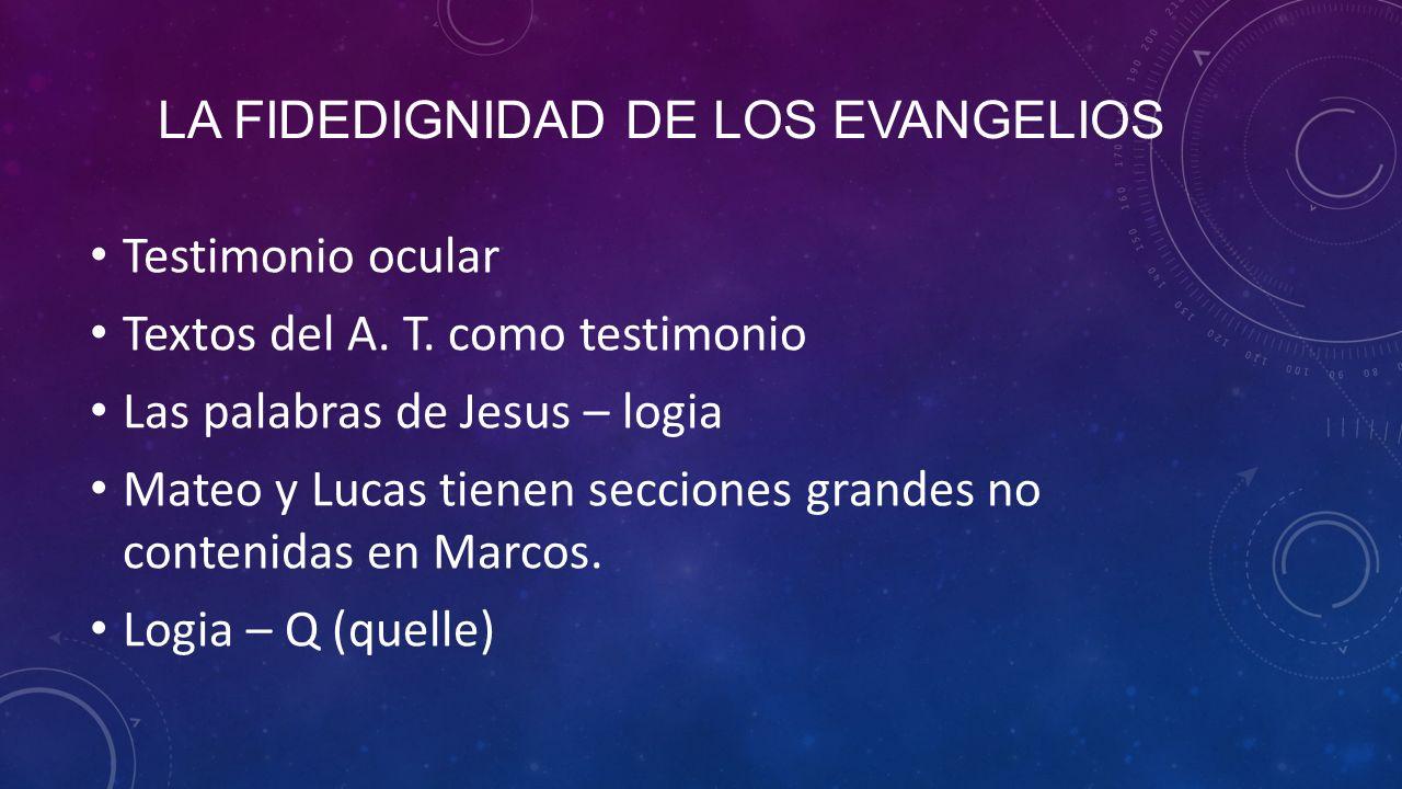 La fidedignidad de los evangelios