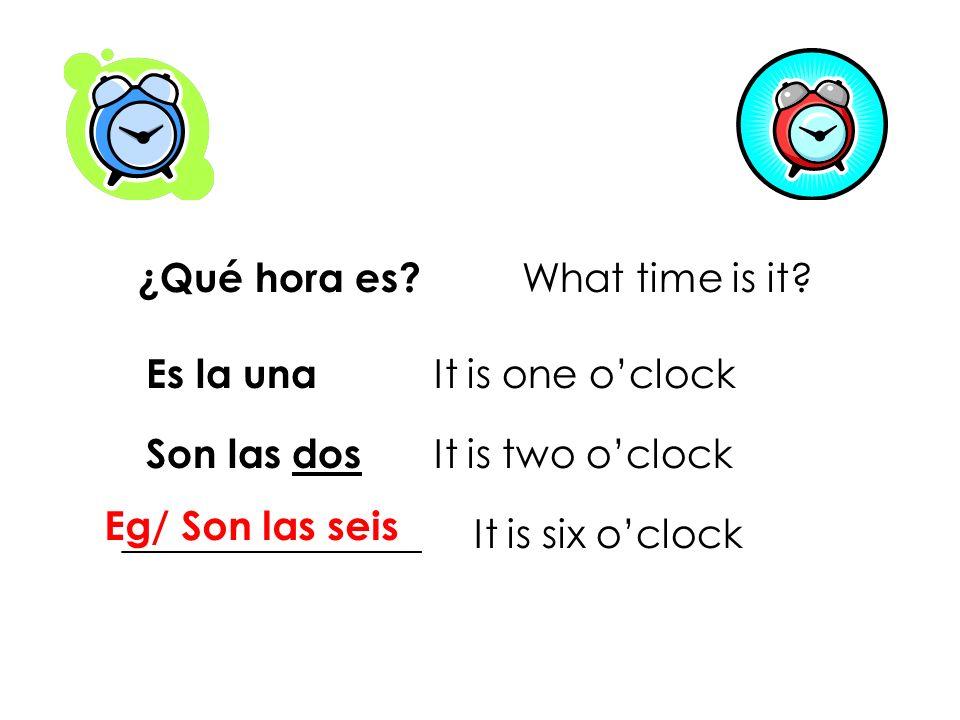 ¿Qué hora es What time is it