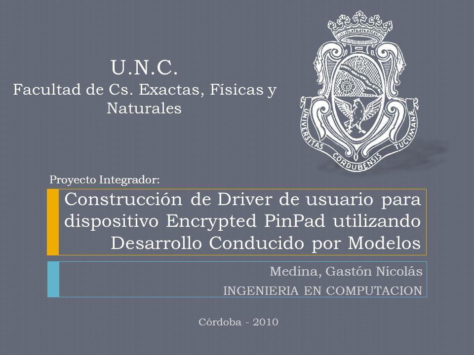 Medina, Gastón Nicolás INGENIERIA EN COMPUTACION