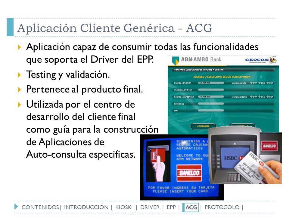 Aplicación Cliente Genérica - ACG