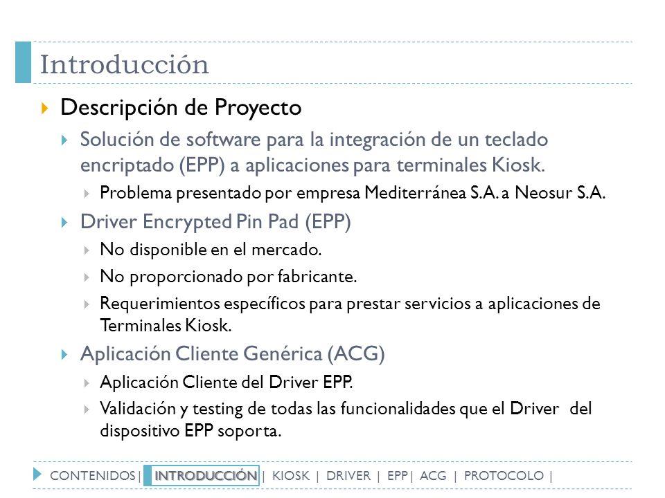 Introducción Descripción de Proyecto