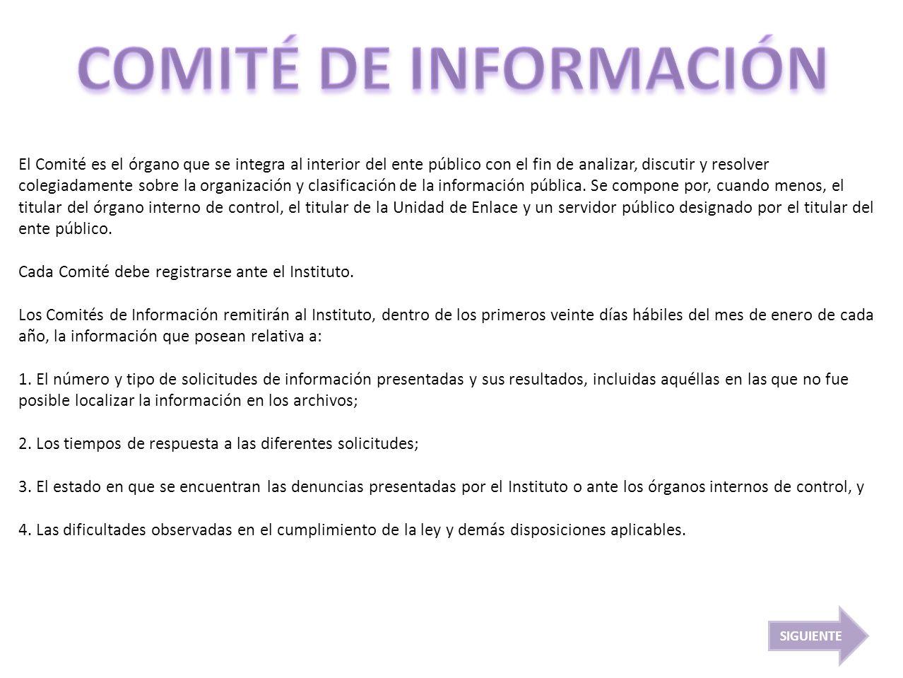 COMITÉ DE INFORMACIÓN