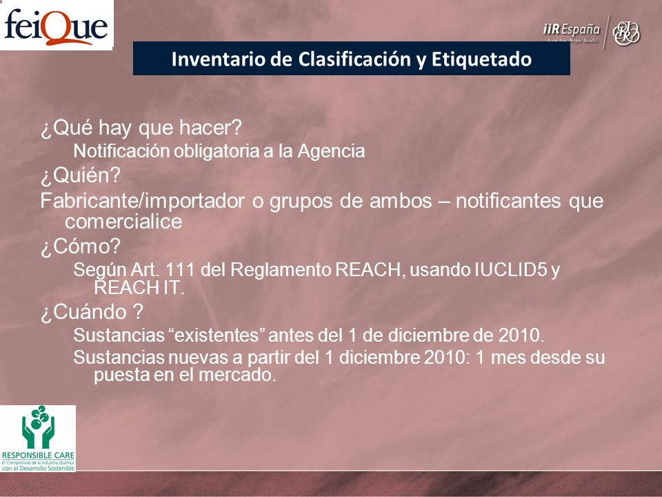 Inventario de Clasificación y Etiquetado