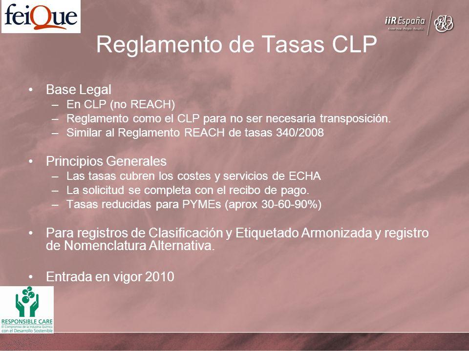 Reglamento de Tasas CLP