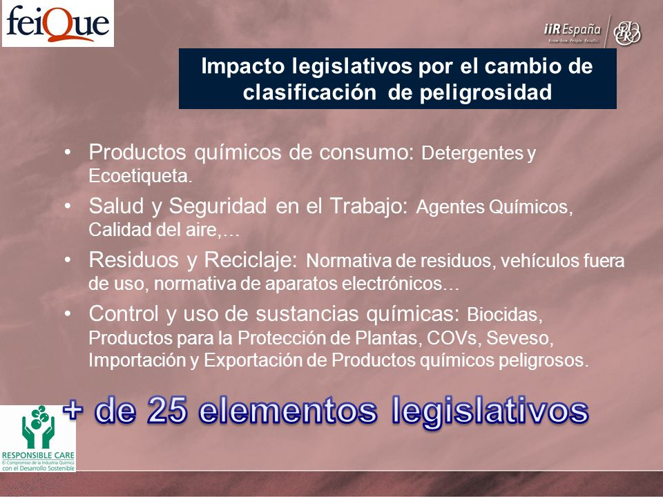 + de 25 elementos legislativos