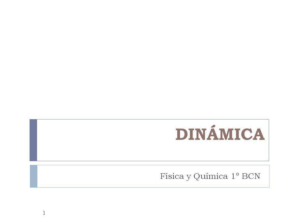 DINÁMICA Física y Química 1º BCN