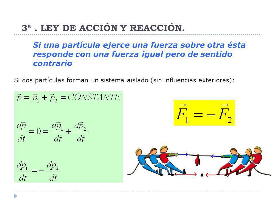 3ª . LEY DE ACCIÓN Y REACCIÓN.