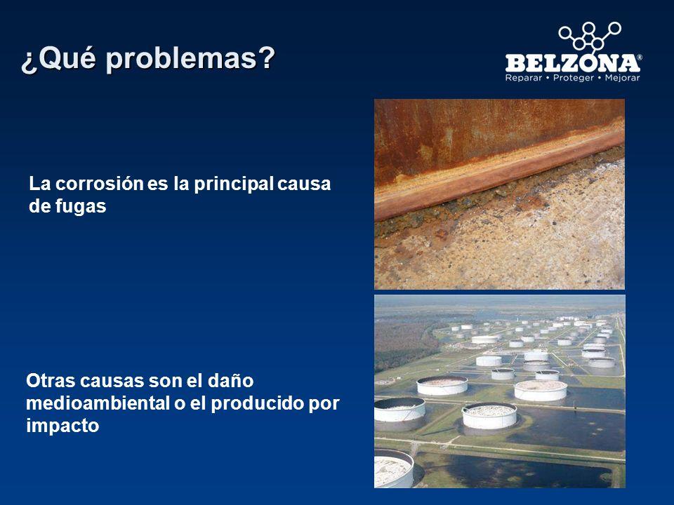 ¿Qué problemas La corrosión es la principal causa de fugas