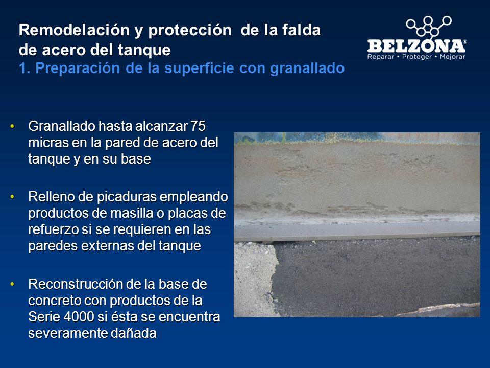 Remodelación y protección de la falda de acero del tanque