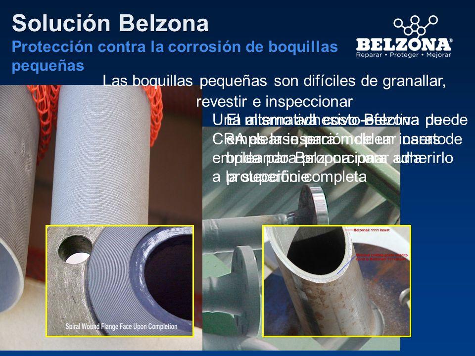 Solución Belzona Protección contra la corrosión de boquillas pequeñas