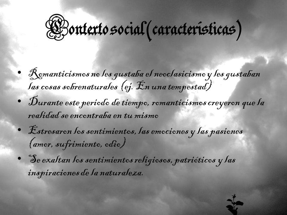 Contexto social (características)