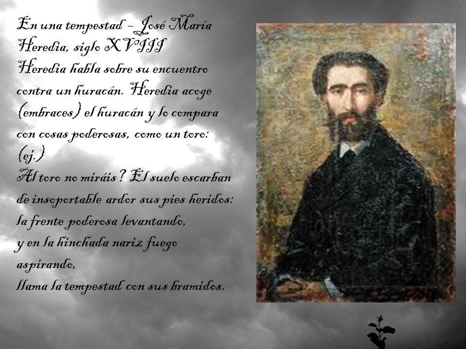 En una tempestad – José María Heredia, siglo XVIII