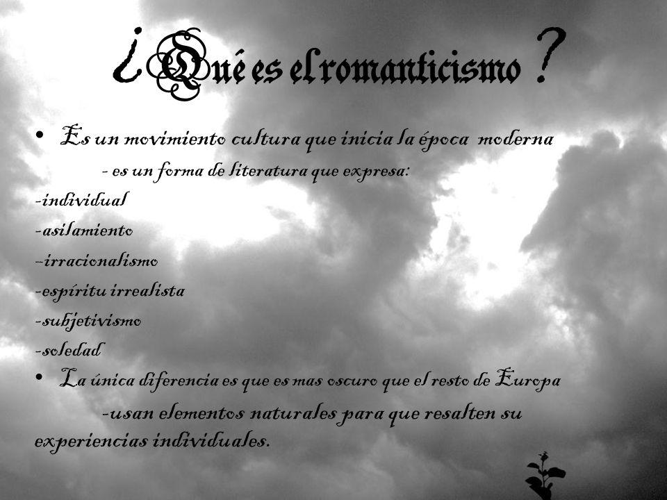 ¿Qué es el romanticismo