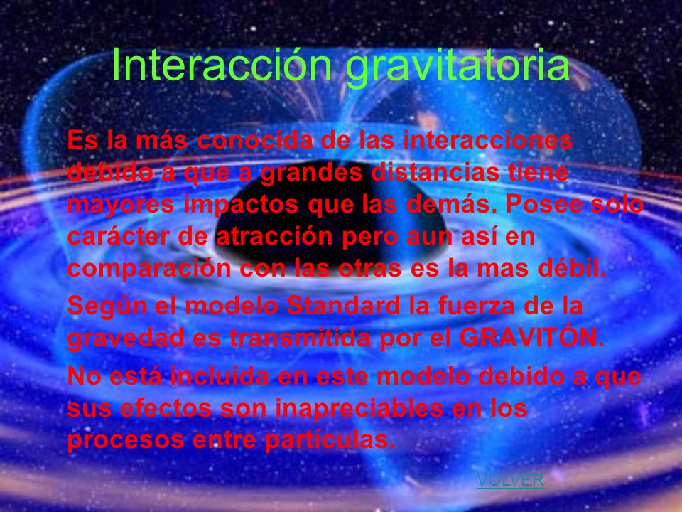 Interacción gravitatoria