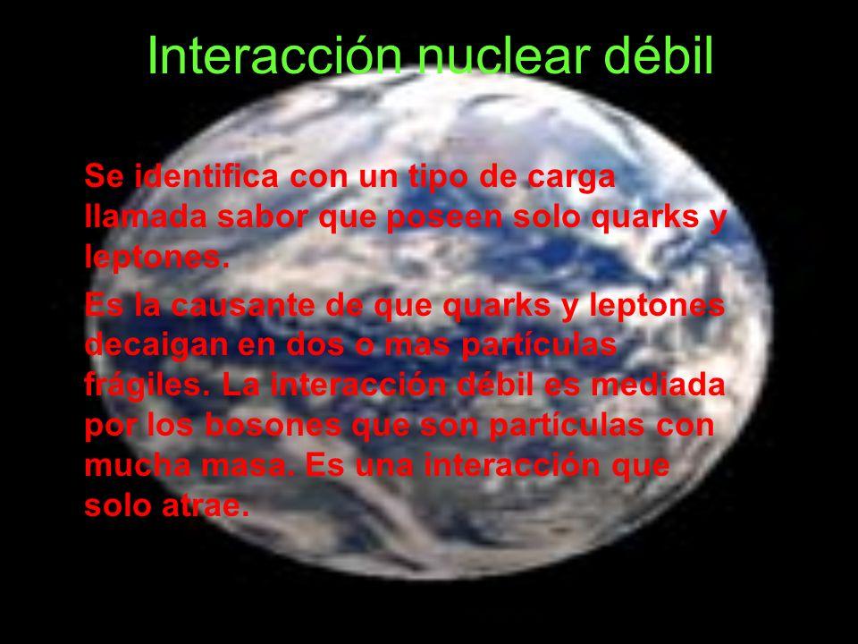 Interacción nuclear débil