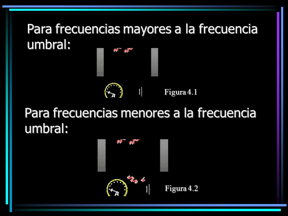 Para frecuencias mayores a la frecuencia umbral: