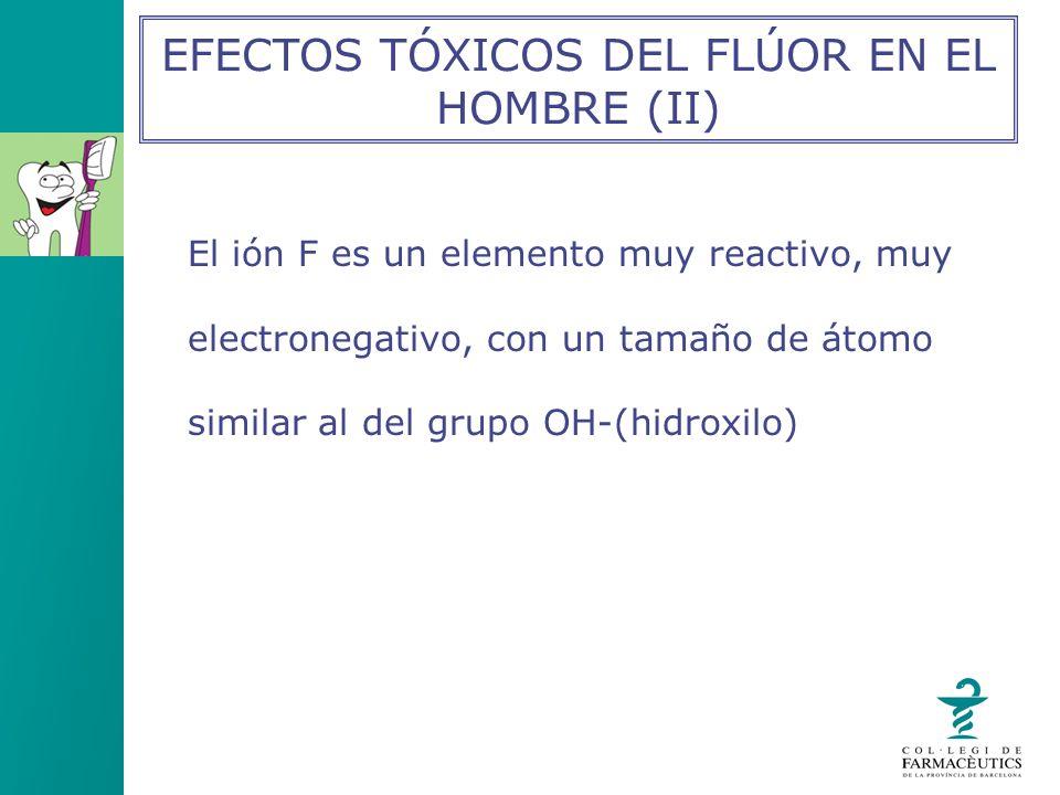 EFECTOS TÓXICOS DEL FLÚOR EN EL HOMBRE (II)