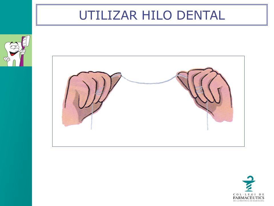 UTILIZAR HILO DENTAL