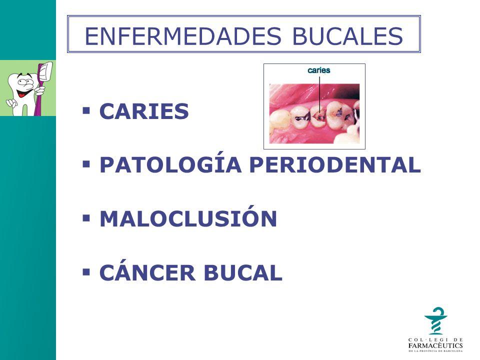 ENFERMEDADES BUCALES CARIES PATOLOGÍA PERIODENTAL MALOCLUSIÓN