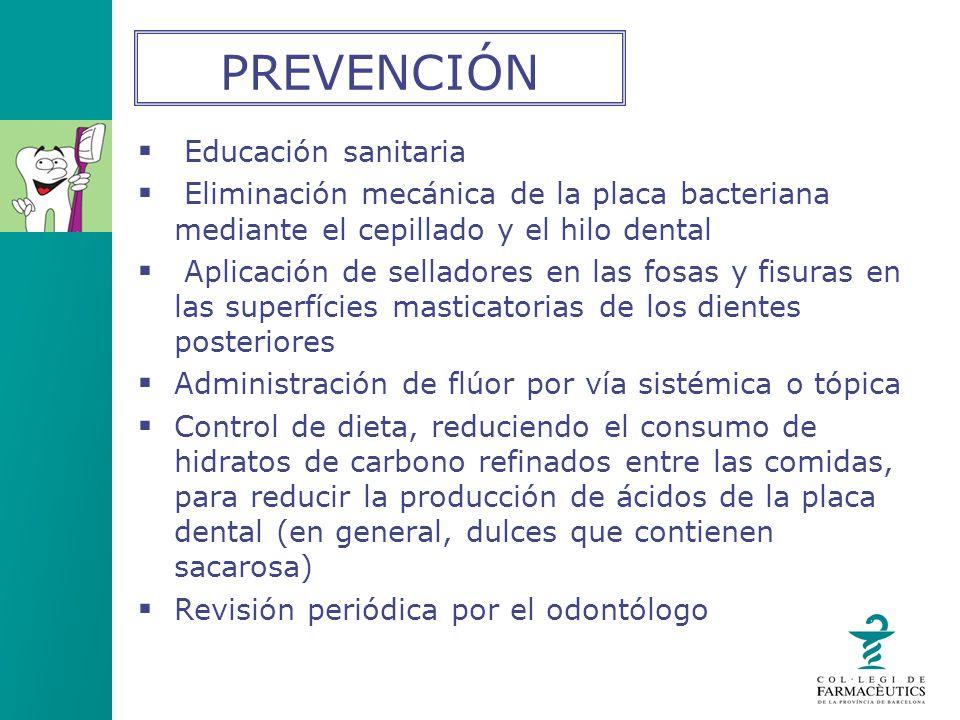 PREVENCIÓN Educación sanitaria