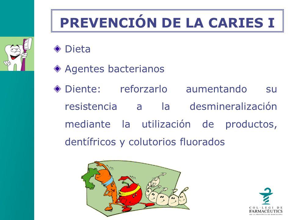 PREVENCIÓN DE LA CARIES I