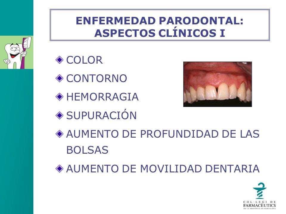 ENFERMEDAD PARODONTAL: ASPECTOS CLÍNICOS I