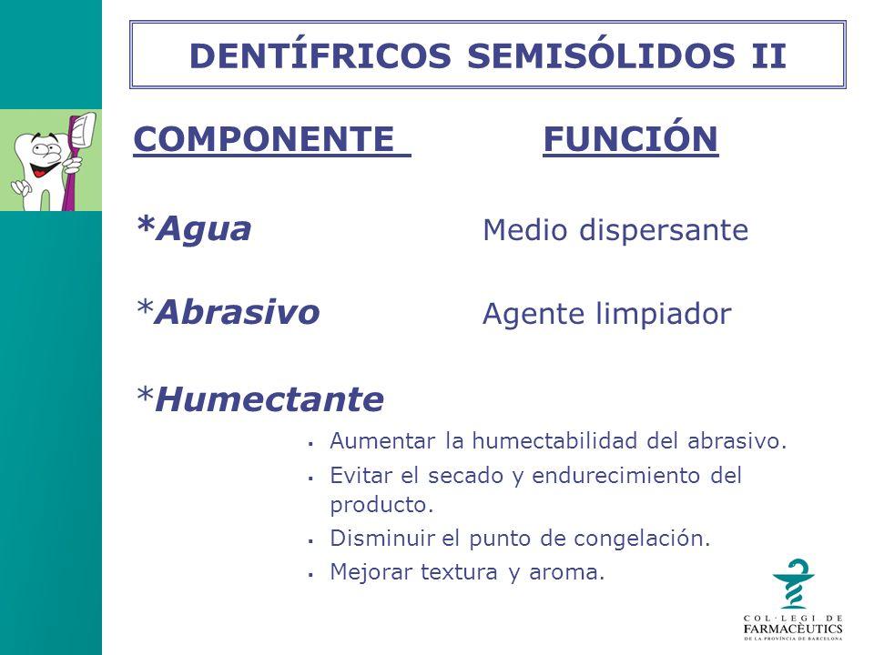 DENTÍFRICOS SEMISÓLIDOS II