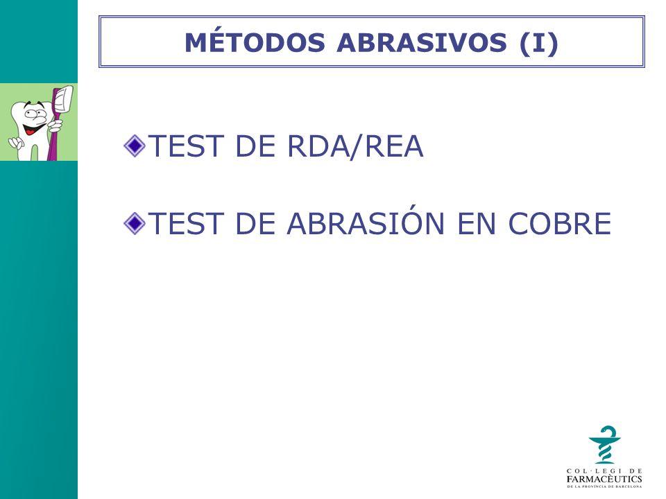 TEST DE ABRASIÓN EN COBRE