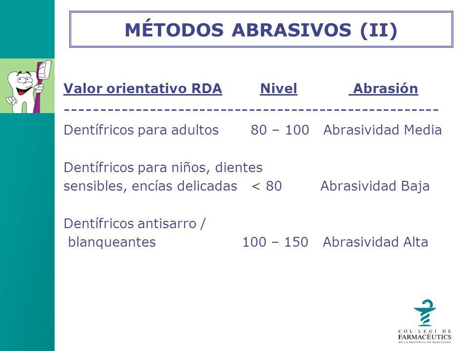 MÉTODOS ABRASIVOS (II)