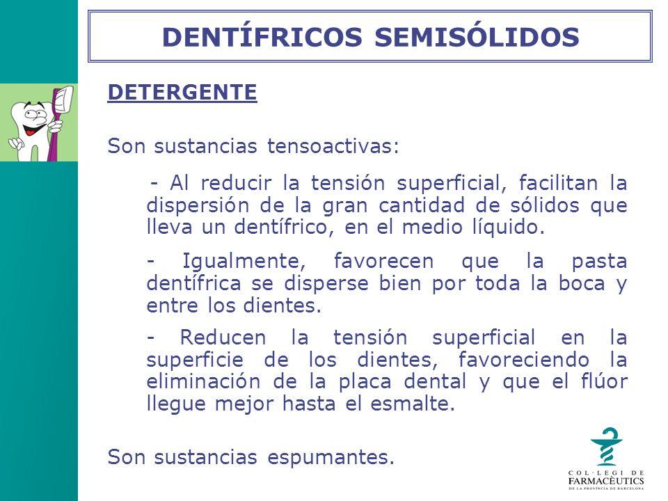 DENTÍFRICOS SEMISÓLIDOS