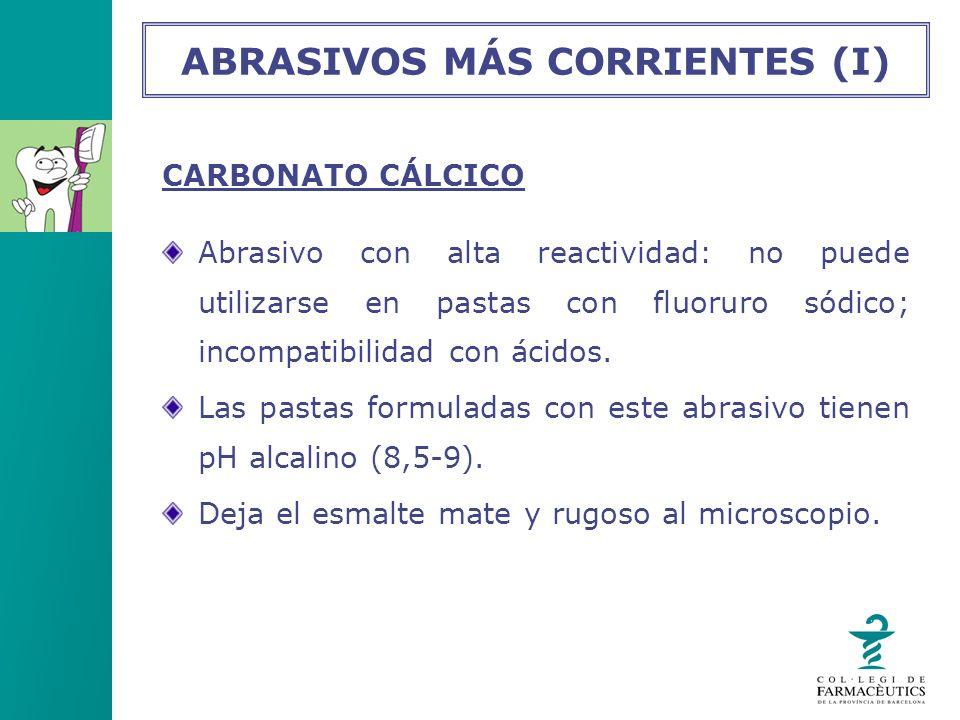 ABRASIVOS MÁS CORRIENTES (I)