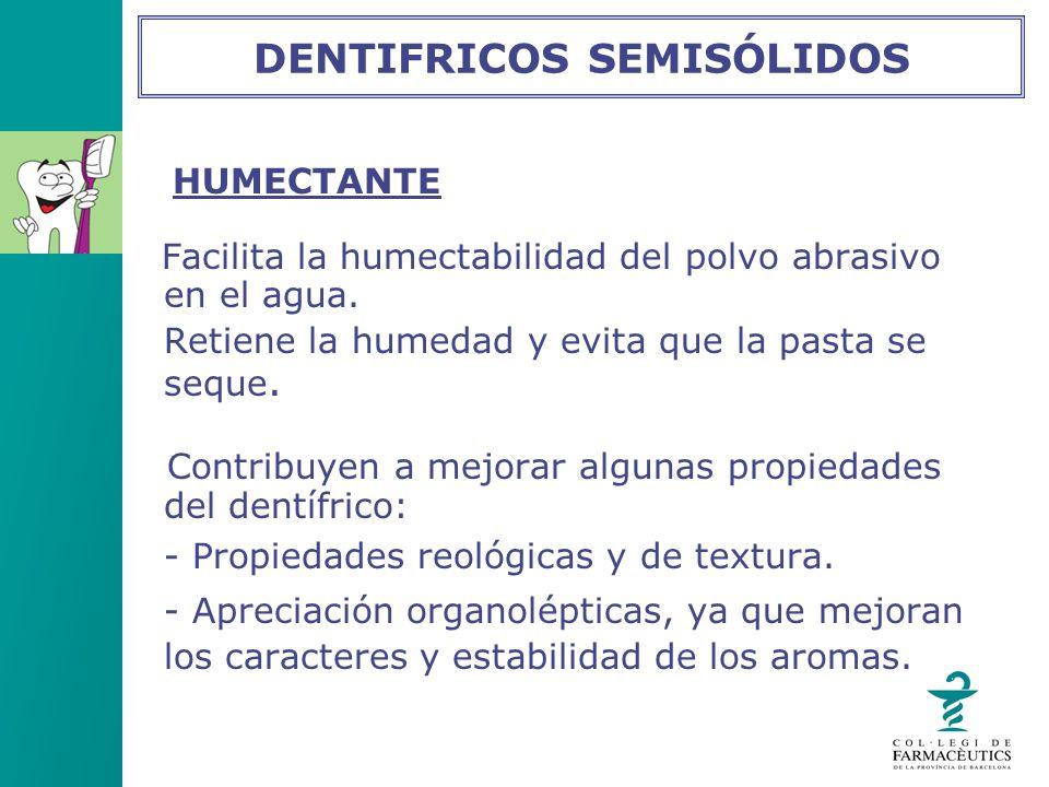 DENTIFRICOS SEMISÓLIDOS