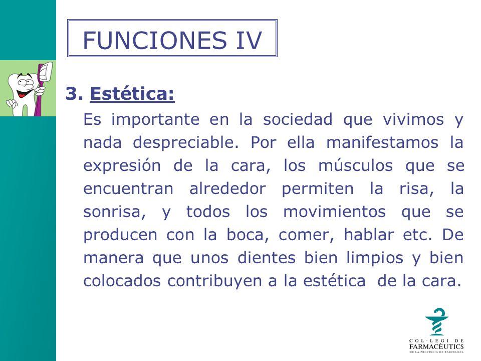 FUNCIONES IV 3. Estética: