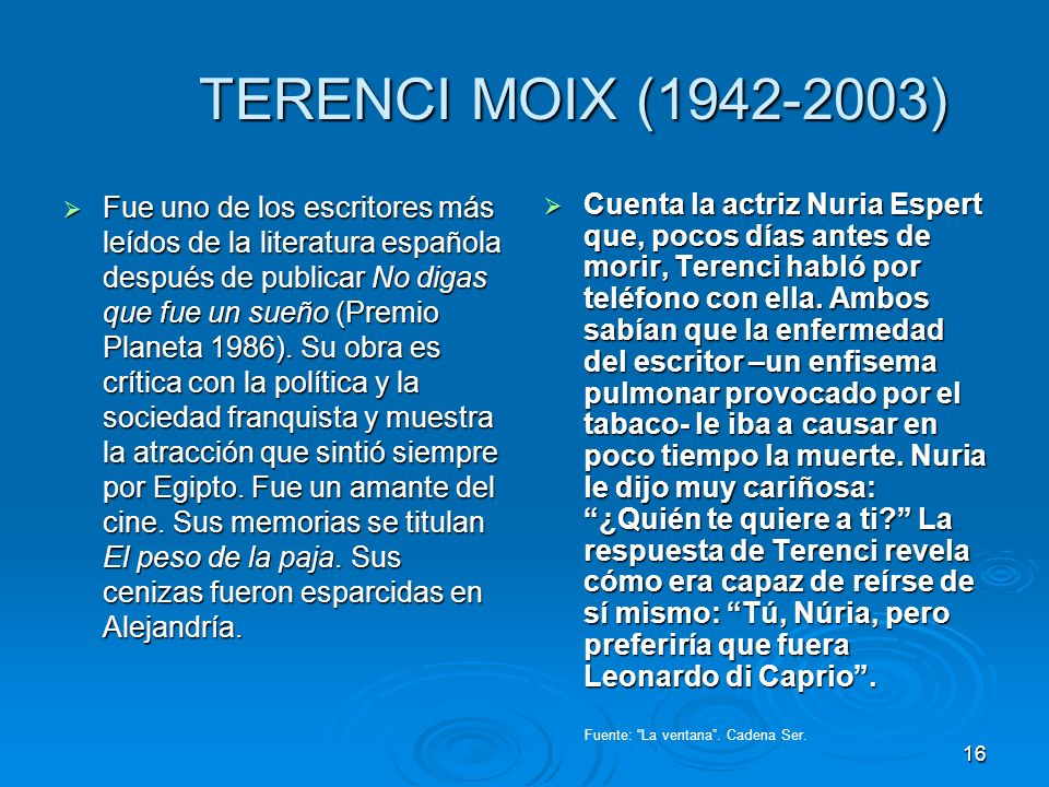 TERENCI MOIX (1942-2003)