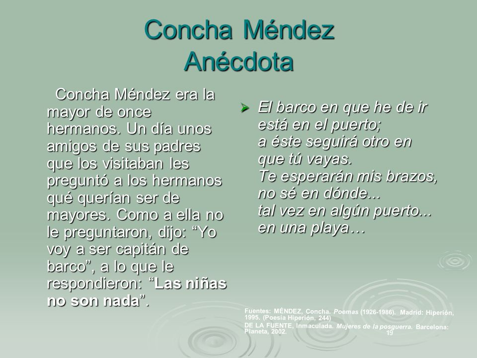 Concha Méndez Anécdota